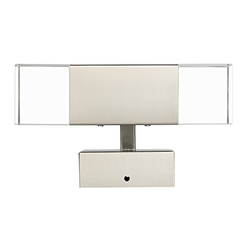 GeeKeep Modern 6W LED Up Down Wall Sconce Lighting Spotlight Stainless Steel+Glass Fixture ...