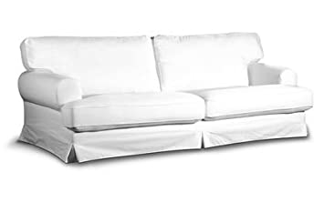 Funda para Ikea ekes KOG cama sofá en Cotton Blanco de Sau ...