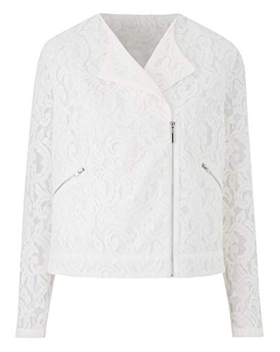 White Be Jacket Lace Simply Biker Womens HUfZwqZ46