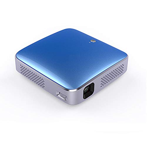 Mini Smart Projector 1080P HD Tragbarer Projektor Unterstützt Mobile Home Theater Office Game Party,Lightblue