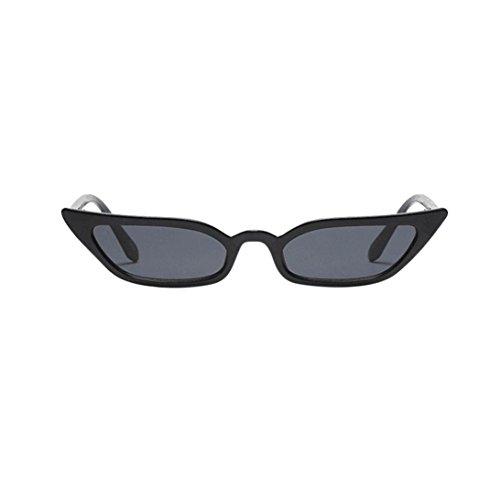 Uv400 Eyewear - Litetao Hot Sale Womens Ladies Mens Sunglasses Spring Summer Vintage Cat Eye Small Frame UV400 Fashion Eyewear for Driving Cycling Running Fishing Golf (Black)