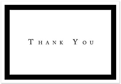 amazon com formal black thank you note cards 48 cards
