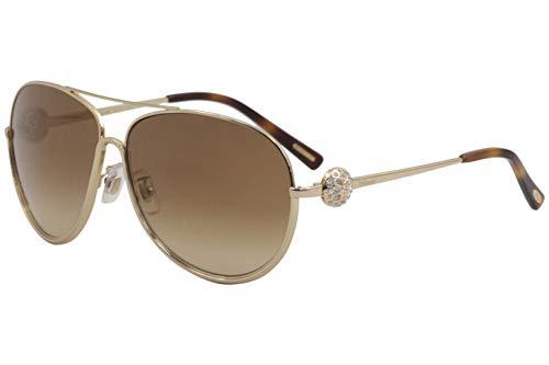 Chopard Aviator Sunglasses SCHB23S 300G Rose Gold/Black B23 ()
