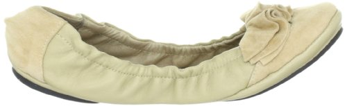 Lise Lindvig DOT 00800315 - Bailarinas de cuero para mujer, color beige, talla 39 Beige (Beige (Beige))