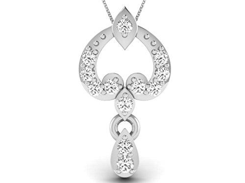 Or Blanc 18 ct Pendentifs Diamant , 0.04 Ct Diamant, GH-SI, 0.58 grammes.