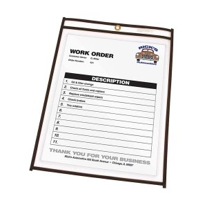 - C-Lineamp;reg; Shop Ticket Holders, 6 x 9, Clear Front and Back with Black Stitching, 25/Box
