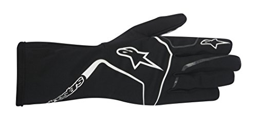 Alpinestars 3552017-12B-L TECH 1-K RACE GLOVES, BLACK/WHITE, SIZE L (PR)