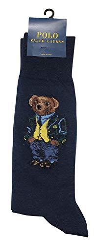 (Polo Ralph Lauren Blazer Polo Bear Fashion Sock (88975) O/S/Navy)
