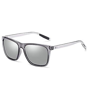 Mjia sunglasses Gafas Deportivas Hombre,Gafas de Sol polarizadas Gafas de Sol de magnesio de Aluminio Retro Que conducen la,Playa, Marco Gris: Amazon.es: ...