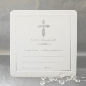 Amazoncom Luxury Pack of 10 First Communion Invitations by Jean