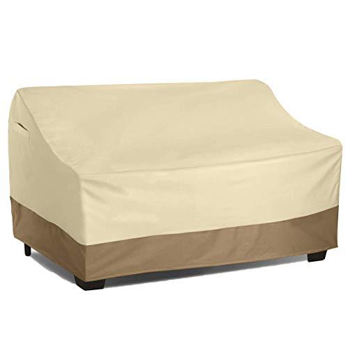 Vanteriam Waterproof Bench/Loveseat Cover, Large Outdoor Furniture Covers Waterproof for Loveseat/Bench. (Bench Furniture Outdoor Cover)