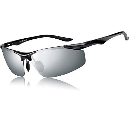 ATTCL Mens Sports Polarized Sunglasses Driver Golf Fishing Al-Mg Metal Frame Ultra Light