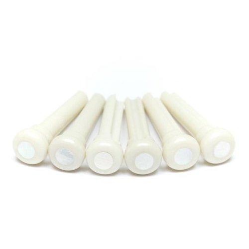 Graph Tech Tusq Ivory Acoustic Guitar Bridge Pins White Pearl Dot