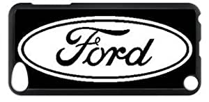 Ford Car Logo 001 Ipod Touch 5 PC Black Sides Hard Shell Case by eeMuse