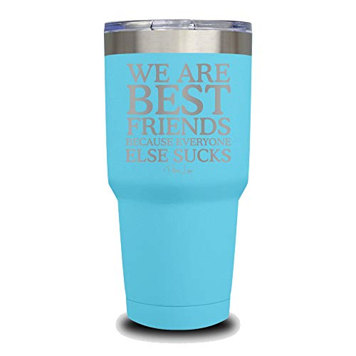(PIPER LOU - WE ARE BEST FRIENDS BECAUSE EVERYONE ELSE SUCKS Stainless Steel Insulated 30 Oz. Tumbler With Lid - Light Blue (Premium) )