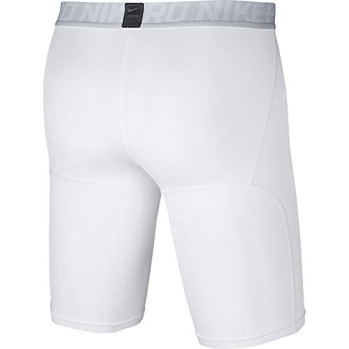Nike Men's Pro Training Shorts, White/Pure Platinum/Black, Small by Nike (Image #3)