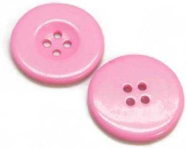 Packet 20 x Pale Pink Resin 20mm Round 4-Holed Sew On Buttons HA10380