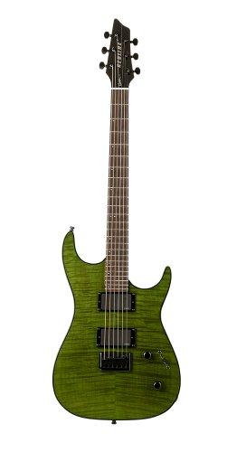 Godin Redline 2 Electric Guitar (Trans Green Flame RN)