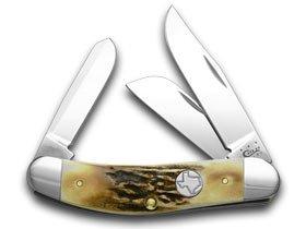 CASE XX Genuine Deer Stag Texas Shield 1/125 Sowbelly Pocket Knife Knives
