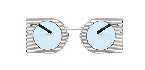 polarisées inspirées Bleu cercle métallique retro vintage style lunettes soleil rond de Lennon Film du en 4fxUCEw