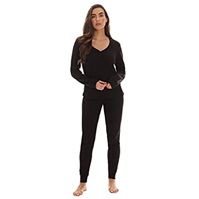 #followme Womens Thermal Henley Jogger Pant Set at Women's Clothing store