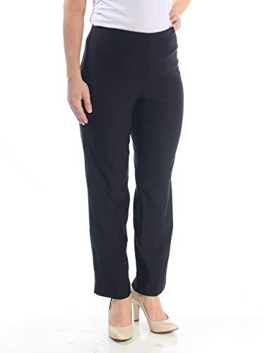 (Charter Club Womens Plus Skinny Leg Slimming Ankle Pants Black 14W)