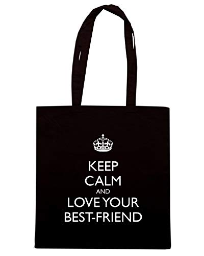 BEST CALM Nera YOUR KEEP Shopper FRIEND AND LOVE TKC2584 Borsa wqxC85AIA