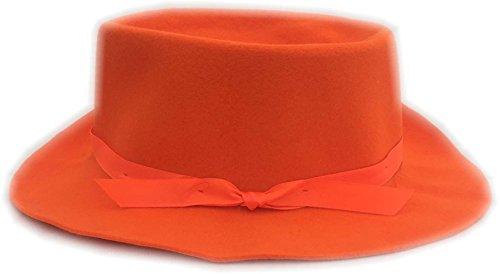 Authentic Rolled Wool Maine Crusher Hat (Medium (7 1/8), Blaze - The Store Maine