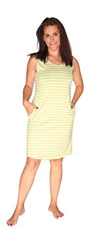 Bianco Verde Pigiama da Notte Donna Camicia Vestaglia Limone Xq70t0w