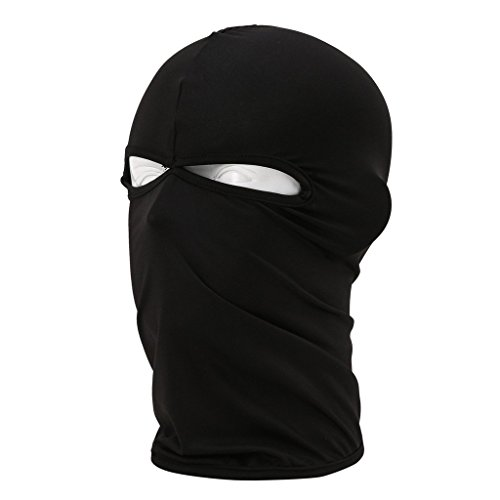 ezyoutdoor Windproof Outdoor Sports Lycra Balaclava Full Face Mask for Motorcycle Fishing Cycling Skiing Snowboarding Outdoor Sports (Black)