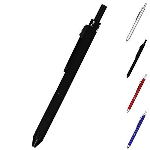 TSML 4-in-1 Multicolor pen - Metal Cased Multifunction Pen - Black Ball Pen, Blue Ball Pen, Red Ball Pen and 0.5mm Mechanical Pencil (Black) by TSML (Image #9)