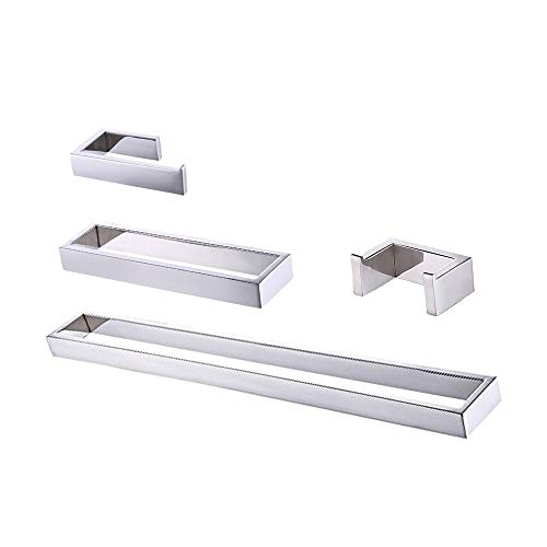 Kes 4-Piece Bathroom Accessory Set RUSTPROOF Wall Mount Polished SUS 304 Stainless Steel, LA2300-42 by Kes