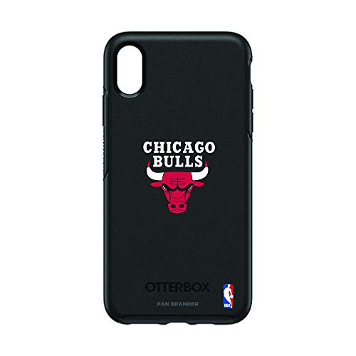 - Fan Brander NBA Team Logo with OtterBox Symmetry Series case Compatible with iPhone Xs Max(Chicago Bulls)