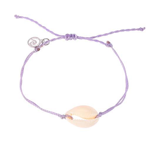 Psunrise Pulsera Best Selling Natural Shell Handwoven Braided Adjustable Pull Bracelet Ladies Jewelry(Purple) from Psunrise