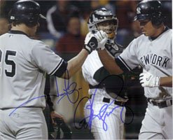 Alex Rodriguez 8x10 Photograph - Signed Yankees, New York (Jason Giambi/Alex Rodriguez) 8x10 Photo By Jason Giambi and Alex Rodriguez autographed