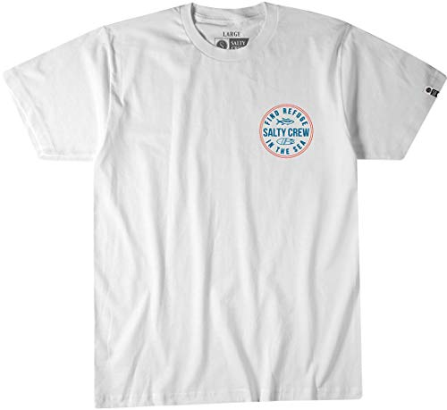 (Salty Crew Twin Fin T-Shirt - White - MD)