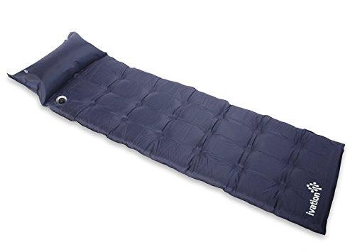 Ivation Self-Inflating Air Mattress & Pillow, Lightweight Sleeping Foam, Folds Compactly (Renewed)