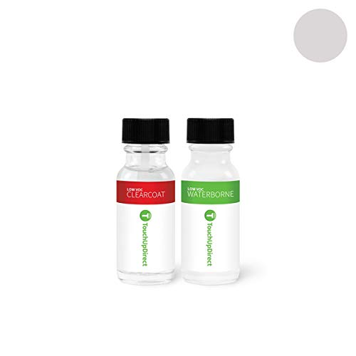 TouchUpDirect Exact Match Automotive Touch Up Paint Compatible with Ford Ingot Silver Metallic (UX) Jar - Essential Package ()