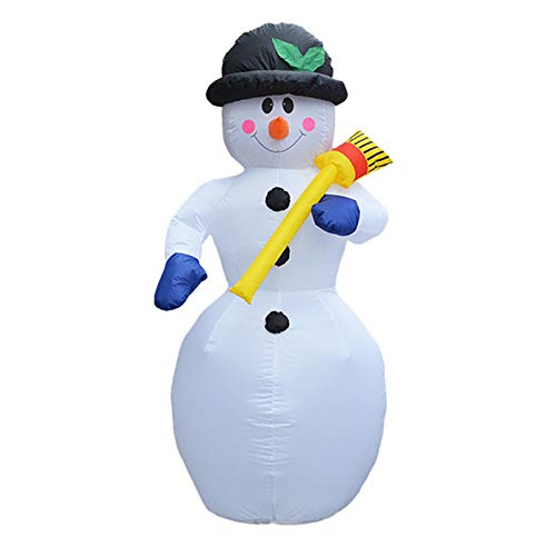 Viet-SC Inflatable Bouncers - 180cm Giant Snowman Inflatable Illuminated Toys Santa Claus LED Lighted Christmas Oktoberfest Props Winter Party Yard Decoration 1 PCs]()