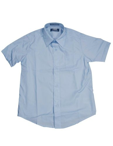 French Toast School Uniform Boys Short Sleeve Classic Dress Shirt, Blue, - Christmas Short Sleeve Jumper
