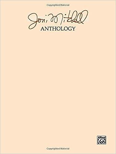 Joni Mitchell Anthology Joni Mitchell 9780769207148 Amazon