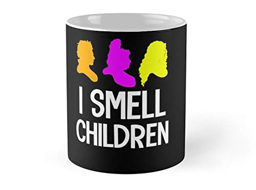 Hued Mia Mug I smell children halloween hocus pocus Mug - 11oz Mug - Features wraparound prints - Dishwasher safe - Made from Ceramic - Best gift for family friends ()