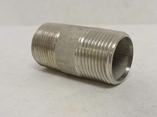 Industry-Std 1XAF1 Pipe Nipple, SS-316, 1NPT x 2-1/2