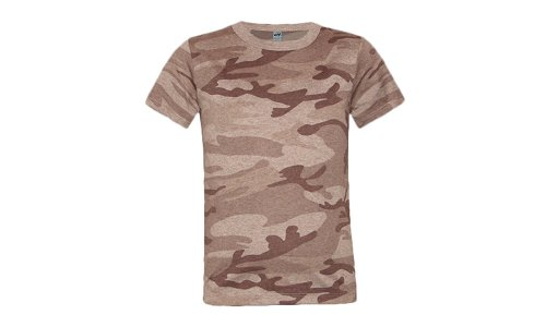 Kavio! Youth Heather Camouflage Short Sleeve Tee Camo Desert Sand L