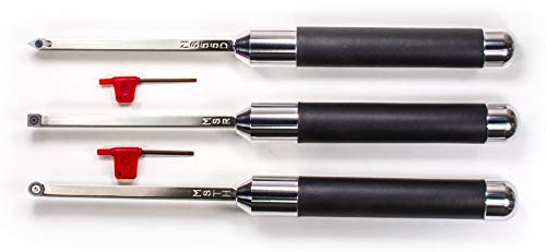 Simple Woodturning Tools Carbide Pen Turning Mini Tool Set with Rougher Finisher & Detailer Plus 9