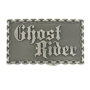(Jewel M Ghost Rider Logo Rectangular Belt Buckle)