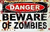Danger Beware of Zombies Trust walking dead Vinyl Sticker,Cars Trucks Vans Walls Laptop