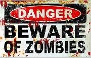 Danger Beware of Zombies Trust walking dead Vinyl Sticker,Cars Trucks Vans Walls Laptop