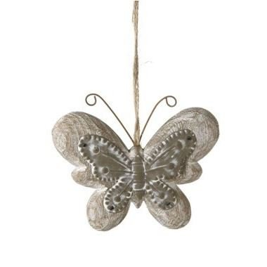 - Butterfly Hanger Zinc & Wood