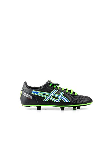 Asics - Botas de fútbol de Material Sintético para hombre Varios Colores Nero/Verde Nero/Verde